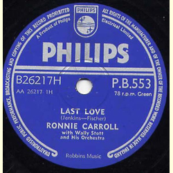 Ronnie Carroll - Last Love/My Believing Heart