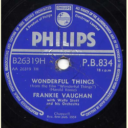 Frankie Vaughan - Wonderful Things / Judy