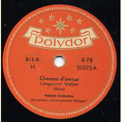 Helmut Zacharias - Chanson damour/Addio amore
