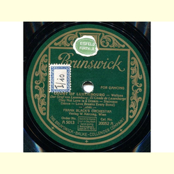Frank Blacks Orch. - Count of Luxembourg, Waltzes