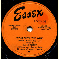 Val Anthony - Walk with the Wind / No Tears, No Regrets