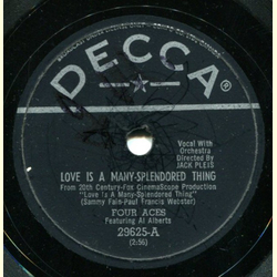 Al Alberts / Four Aces - Love is a Many-Splendored Thing / Shine