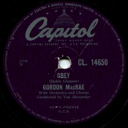 Gordon MacRae - Obey / Without Love