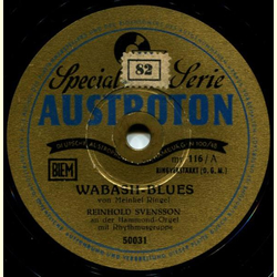 Reinhold Svensson, Hammond-Orgel - Wabash-Blues / Margie