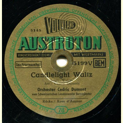 Cedric Dumont Orch. - Candlelight Waltz / Rose damour