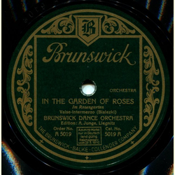 Brunswick Dance Orch. - In the Garden of Roses / Fairys Doll