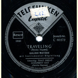 Goldia Haynes - Traveling / That Great Judgment Day