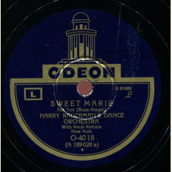 Harry Radermans Dance Orchestra with Vocal Refrain - Sweet Marie / Hallelujah