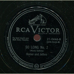 Homer and Jethro - So Long No. 2 / Im Movin on No. 2