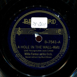 Burt Shaw / Sam Browne - A Hole in The Wall / The Girl in The Bonnest of Blue