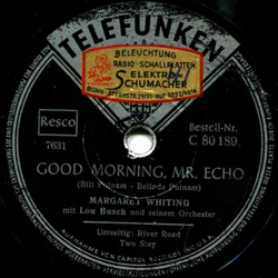 Margaret Whiting - River Road Two-Step / Good Morning, Mr. Echo