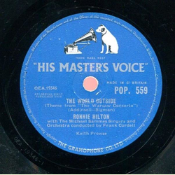 Ronnie Hilton with The Michael Sammes Singers - As I Love You / The World Outside