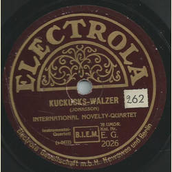 International Novelty-Quartet - Kuckucks-Walzer / Lena