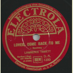 Lawrence Tibbett - Wanting You / Lover, come back to me