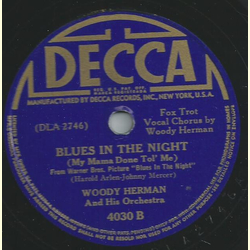 Woody Herman - This time the dreams on me / Blues in the night
