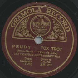 Zez Confrey & His Orchestra - Polly / Prudy