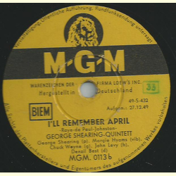 George Shearing Quintett - Jumping with Symphony sid / Ill remember April