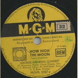George Shearing Quintett - How high the moon / So this is Cuba