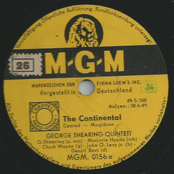George Shearing Quintett - The Continental / East of the sun