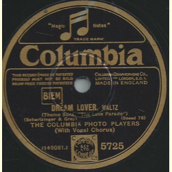 The Columbia Photo Players - My Love Parade / Dream Lover