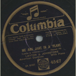 Layton & Johnstone - Me and Jane in a Plane / Just a little white house (in Honeymoon Lane)