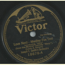 Joseph C. Smiths Orchestra - Love Nest / A Young Mans Fancy
