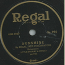Regal Jazz Syncopators / Gothams Favorites - Sunshine /...