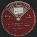 Peter Kreuder - Piano Medley No. 17