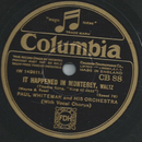 Paul Whiteman - It happened in Monterey /  Ragamuffin Romeo