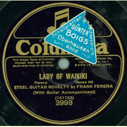 Steel Guitar Novelty by Frank Ferera - Always / Lady Lady of Waikiki