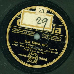 Paul Whiteman and his Orchestra - Blue Hawaii / Louise