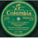 Columbia-Meister-Orchester mit den 4 Columbia Singers -...