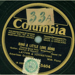 Layton and Johnstone - My Sin / Sing a little love song