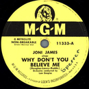 Joni James - Why dont you believe me / Purple Shades