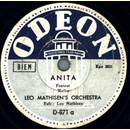 Leo Mathisens Orchestra - Anita / Laughing up my Sleeve