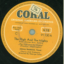 Johnny Desmond - The High and the Mighty / Got No Time
