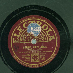 Jack Hylton and his Orchestra - When its night-time in Nevada / Cherie, Cest vous