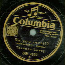 Terance Casey / Sidney Torch - Do you recall / Butterflies in the rain
