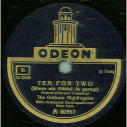 Vincent Lopez - I want to be happy / The Gotham Nightingales - Tea for two
