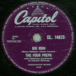 The Four Preps - Big Man / Stop, Baby