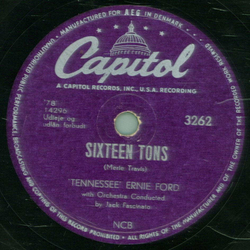 Tennessee Ernie Ford - Sixteen Tons / You Dont Have To Be A Baby To Cry