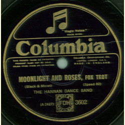 The Hannan Dance Band - Moonlight and Roses / Yearning