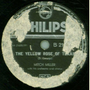 Mitch Miller - The Yellow Rose of Texas / Blackberry Winter