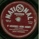 Dick Thomas - If Memories Were Money / Down In Old Wyomin`