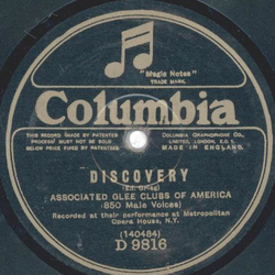 Associated Glee Club of America - Discovery / A Plainsmans Song