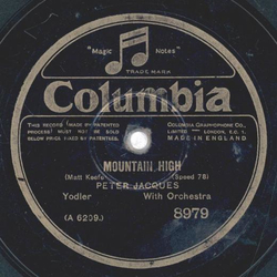 Peter Jacques - The strolling Yodler / Mountain high