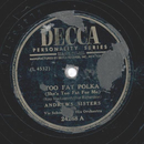 Andrews Sisters - Too Fat Polka / Your Red Wagon