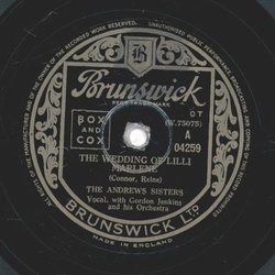The Andrew Sisters - The Wedding Of Lilli / The Windmill Song