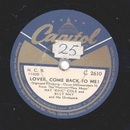 Nat King Cole - Lover, Come Back To Me / That´s All