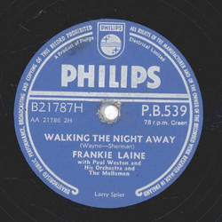 Frankie Laine - Sixteen Tons / Walking the night away